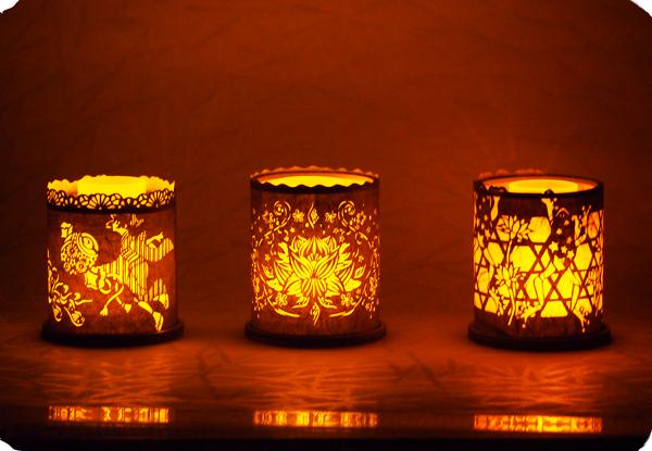 『和紙のキャンドルホルダー』<br>WASHI Candleholder